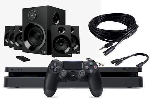 game controller ps4 to speakers