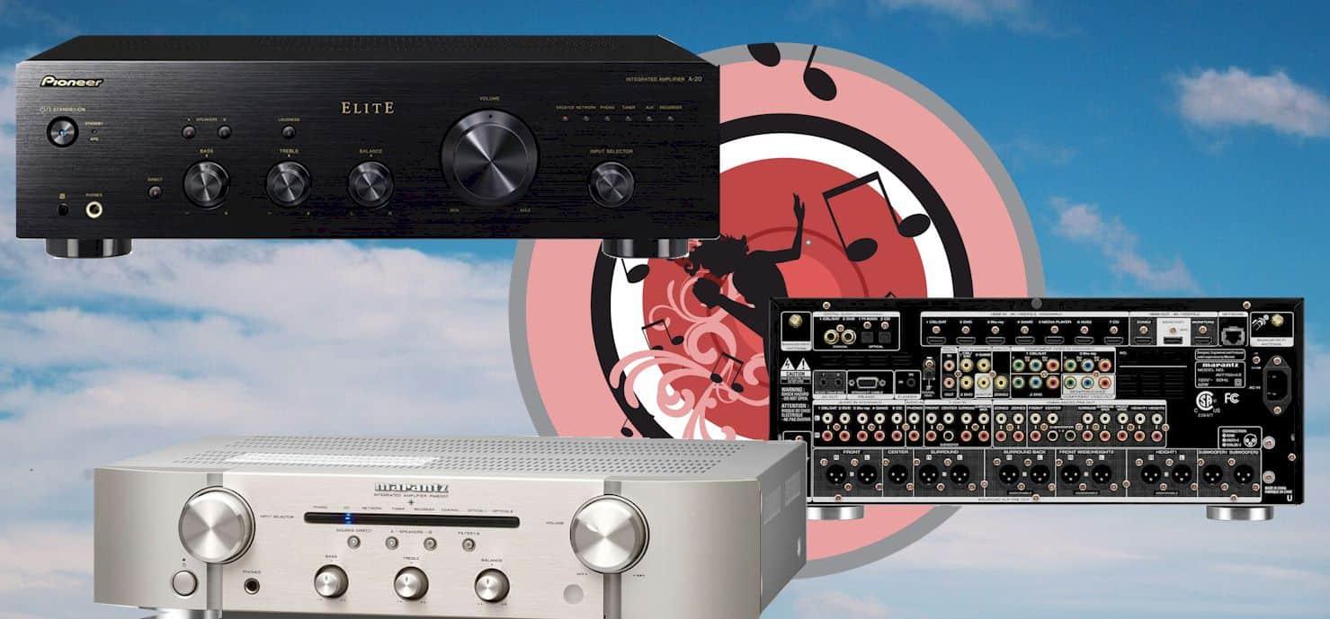 Amplifier vs receiver
